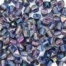 10 x 6mm Pyramids in Magic Blue