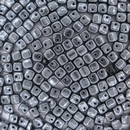 Crisscross Cubes in Gunmetal