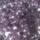 50 x Tanzanite Pink / Topaz Lustre two hole CzechMate Triangles