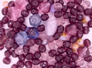 25g of faceted beads in Purple from Preciosa