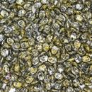 50 x Pinch beads in Tweedy Yellow
