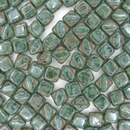 6mm Green Picasso Silky beads