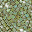 6mm Turquoise Picasso Silky beads