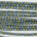 4mm string of snake skin beads in Wind Mix