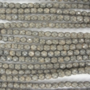 4mm string of snake skin beads in Sand