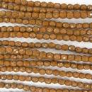 38 x 4mm snake skin beads in Amber