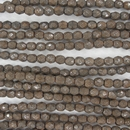 38 x 4mm snake skin beads in Mushroom
