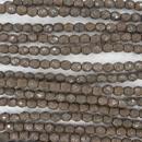 4mm string of snake skin beads in Mushroom