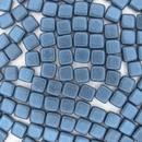 Metallic Suede Blue two hole CzechMate Tiles