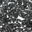 Two hole Black Tango beads
