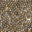 50 x 4mm faceted beads in Tweedy Gold