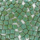 Persian Turquoise Picasso two hole CzechMate Tiles