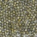 50 x 4mm faceted Tweedy Yellow beads