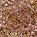 50 x Apollo Gold two hole Triangles