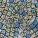 6mm Laser etched Czech Tiles in Matt Iridescent Giraffe print