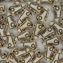 Pair of 15mm Brown and White Shoe beads