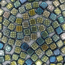 6mm Laser etched Czech Tiles in Iridescent small tiles