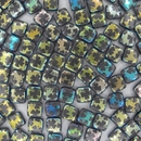 6mm Czech Tiles in Iridescent Shamrock