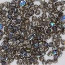 25 x Button beads in Graphite Rainbow