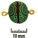 Claspgarten Copper Patina magnetic round clasp 1zs11-65 - 13.5mm
