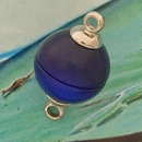 Claspgarten Shiny Dark Blue magnetic round clasp 14844-014 - 12mm