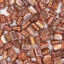 5x8mm Crystal / Capri Rose Roofy beads