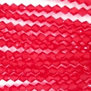 25 x 5mm Siam Red bicones (Czech)
