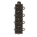 Claspgarten Old Brass clasp with 4 rows 13495 - 25x7mm