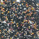 50 x 3mm round Black Sliperit beads