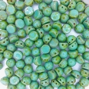 10 x CzechMate Cabochons in Turquoise Picasso
