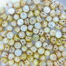10 x Opaque Picasso Lustre two hole Cabochons
