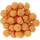 10 x Pacifica Tangerine two hole Cabochons