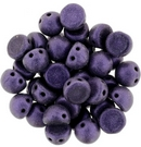 10 x Metallic Suede Purple two hole Cabochons