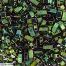 5g Half Tila beads in Metallic Green Iris (HTL0468)