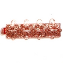 Claspgarten Copper clasp with 4 rows 13495 - 25x7mm
