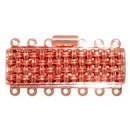 Claspgarten Copper textured clasp with 7 rows 13517 - 37x11mm