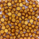 10 x CzechMate Cabochons in Matt Metallic Goldenrod