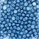 Saturated Metallic Airy Blue two hole CzechMate Cabochons