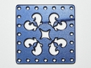 30mm Square Laser Cut Cabochon - Blue