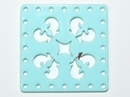 30mm Square Laser Cut Cabochon - Light Turquoise