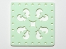 30mm Square Laser Cut Cabochon - Mint Green