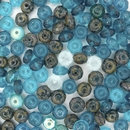 4x7mm faceted Blue Mix Rondelles