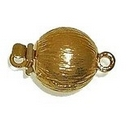 Claspgarten Gold ball clasp with 1 row 14586 - 9mm