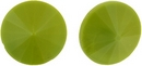 14mm Olive Green Matubo Rivoli