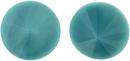 14mm Dark Turquoise Matubo Rivoli