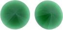 14mm Dark Green Alabaster Matubo Rivoli