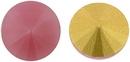 14mm Matubo Rivoli in Pink Opal