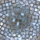 20 x 6mm Czech Tiles in Crystal/Copper