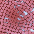 20 x 6mm Czech tiles in Metallic Red