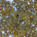25 x 6mm Silky beads in Opal Yellow Picasso
